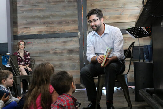 pastor andrew teaching children photo